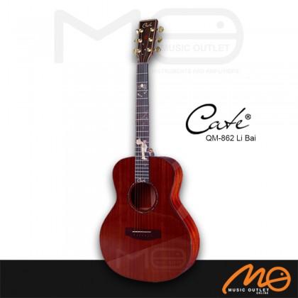 CATE QM-862 LIBAI G.MINI SERIES ACOUSTIC GUITAR (DARK RED)