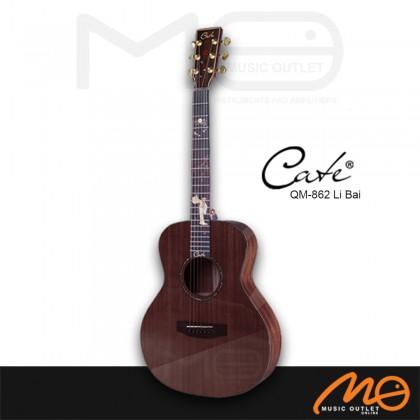 CATE QM-862 LIBAI G.MINI SERIES ACOUSTIC GUITAR (DARK BROWN)