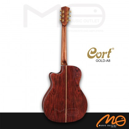 CORT GOLD-A8 ACOUSTIC GUITAR (LIGHT BURST)